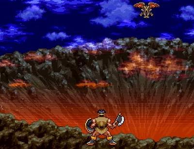 ドラゴンクエスト3オルテガとモンスターの戦いを描いた絵
