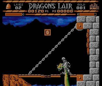 敵と接触して即死するドラゴンズレアーの主人公