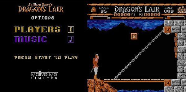 ドラゴンズレアーのタイトルとゲーム画像