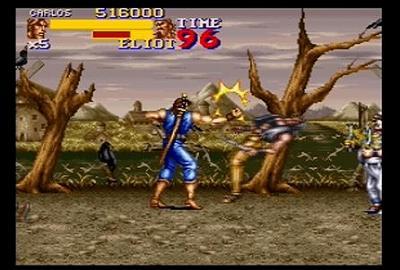 ファイナルファイト2のゲーム画面