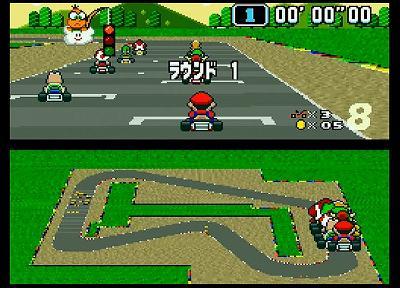 マリオカートのレース画面
