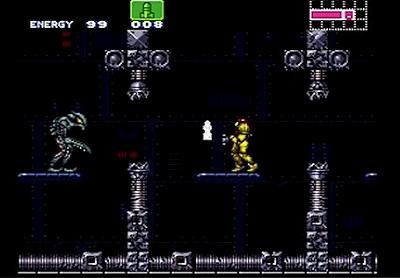 スーパーメトロイドのステージ画面