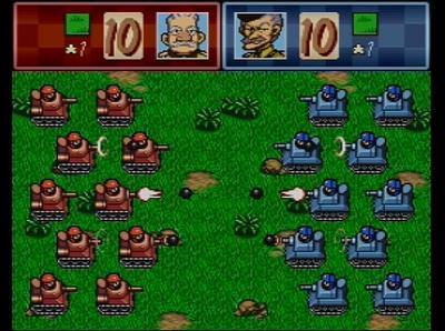 スーパーファミコンウォーズの戦闘画面