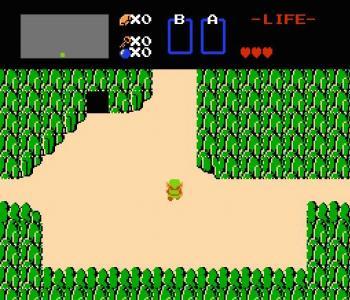 ゼルダの伝説のゲーム画面