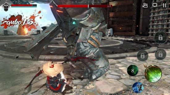 ダークアベンジャークロスの序盤ボスとの戦闘