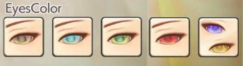 男性エルフの目色