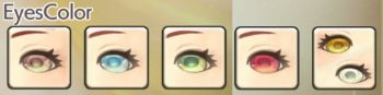 女性エルフの目色