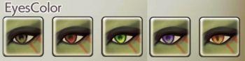 女性オークの目色