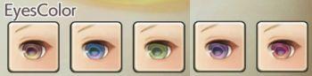 女性ヒューマンの目色