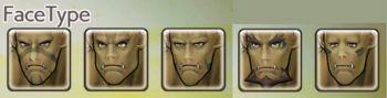 男性オークの顔タイプ