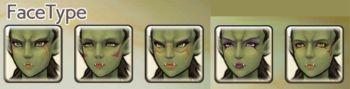 女性オークの顔タイプ