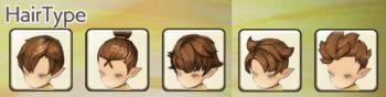 男性ドワーフの髪型