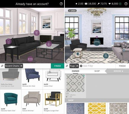 Design Homeの家具を配置する画像