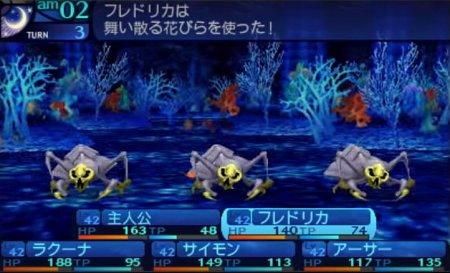 新・世界樹の迷宮 ミレニアムの少女の戦闘画面