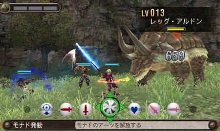 ゼノブレイドの戦闘画面