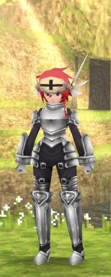 男性キャラの騎士服装