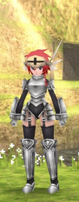 女性キャラの騎士服装