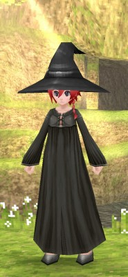 女性キャラの魔法使い服装