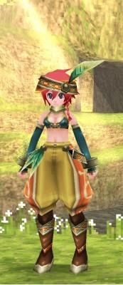 女性キャラの部族服装