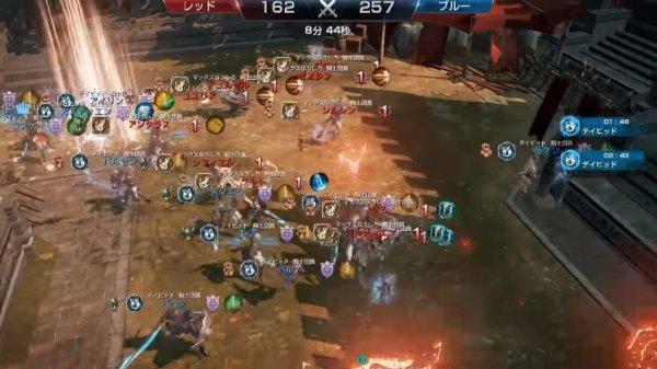 リネージュ2レボリューションの戦争ゲーム画面