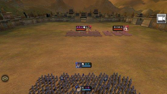 三国志大戦Mの合戦画面