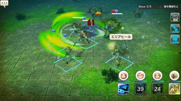 キャラバンストーリーズの戦闘画面