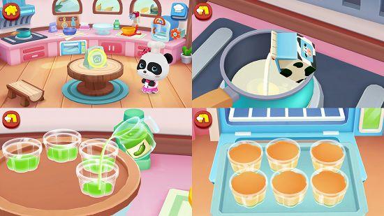 パンダのケーキ屋さんごっこのアプリ画像