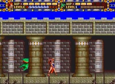 アリシアドラグーンのゲーム画面