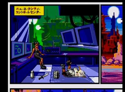 コミックスゾーンのゲーム画面