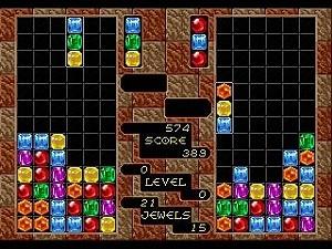 コラムスのゲーム画面