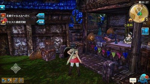 キャラバンストーリーズのフィールド画面