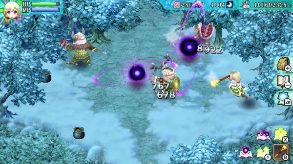 ルーンファクトリー4スペシャルの冒険画面