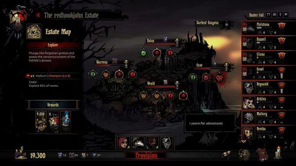 Darkest Dungeonのマップ