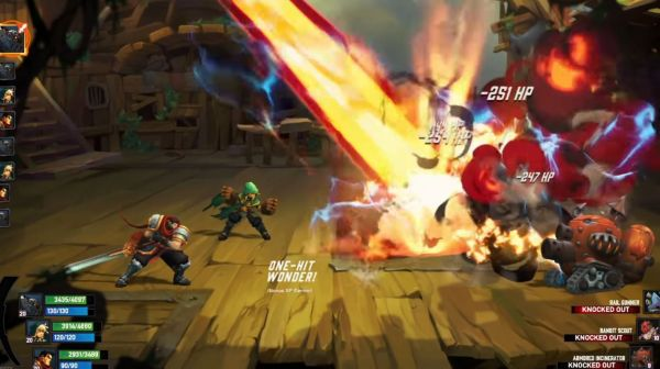 Battle Chasers: Nightwarの戦闘